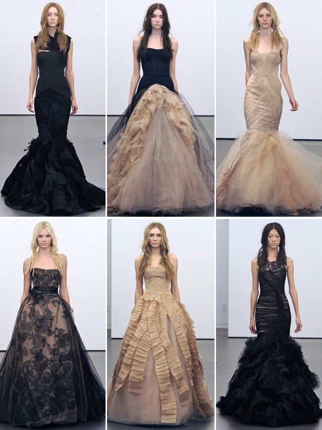 Vera Wang Black Wedding Dresses Fall 2012