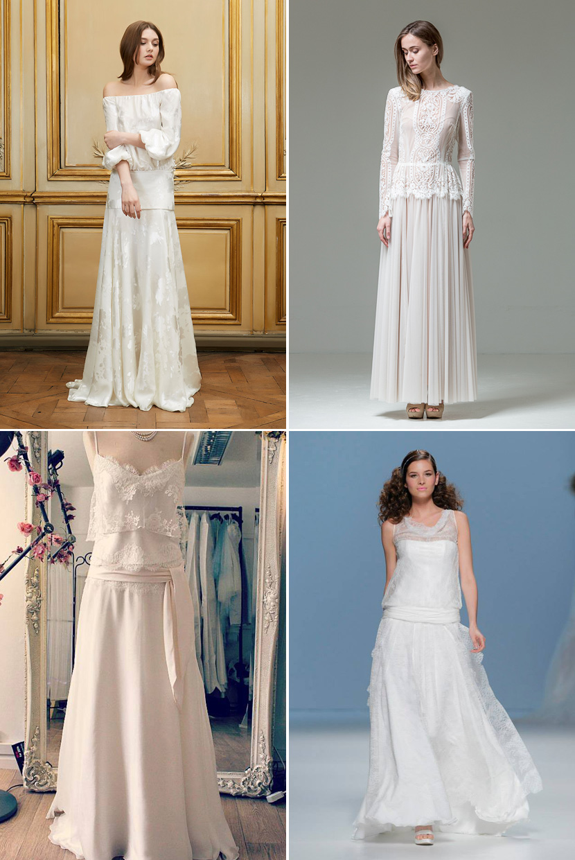 Unconstructed Wedding Gowns