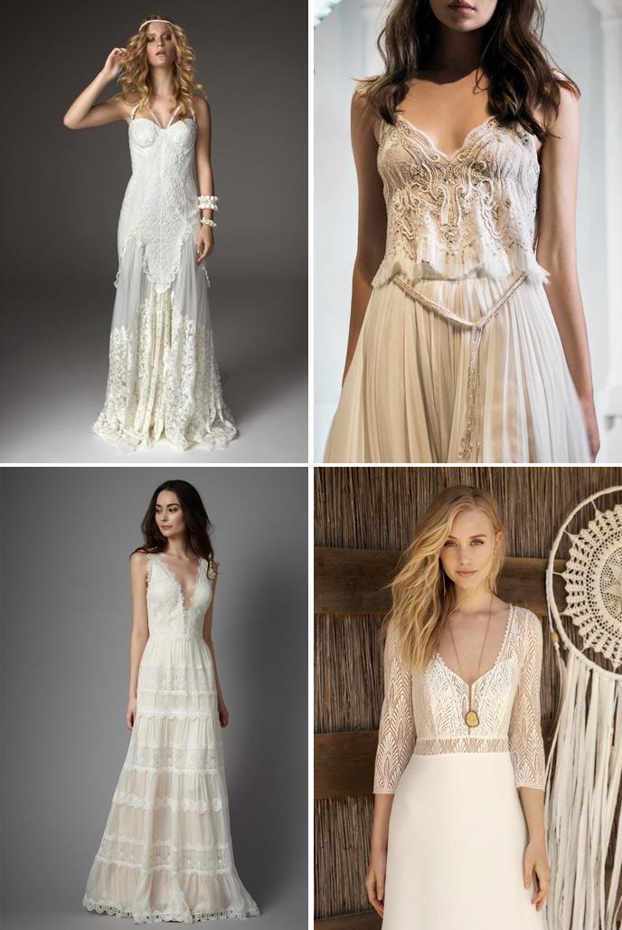Wedding Dress Trends 2018 - Boho