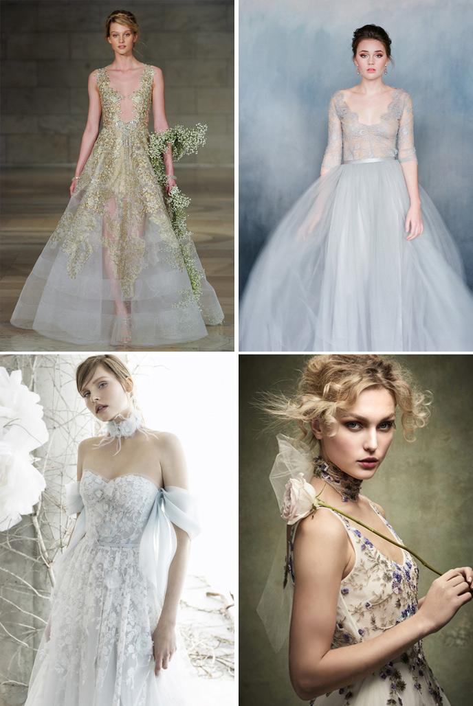 Wedding Dress Trends 2018 - Colour