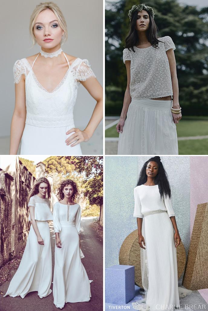 Wedding Dress Trends 2018 - Unstructured